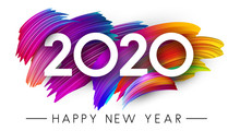 Happy New Year 2020 Card With ...
