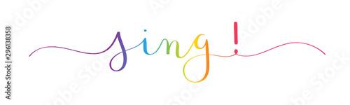 SING! vector brush calligraphy banner - 296138358