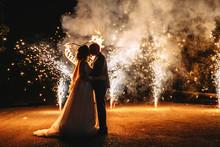 Wedding Fireworks. Wedding Cou...