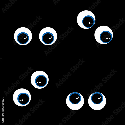 Occhi impauriti nel buio Wallpaper Mural