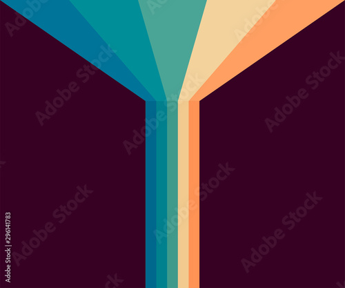 70s, 1970 abstract vector stock retro lines background Tableau sur Toile