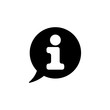 Information Icon Gimmick Vector Template Black White