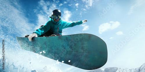 Papiers peints Glisse hiver Snowboarding.