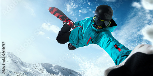 Cadres-photo bureau Glisse hiver Snowboarding.