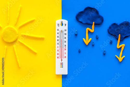 Fotomural Weather forecast concept