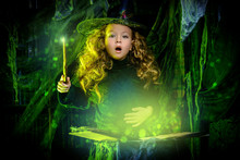 Little Witch Casts A Spell