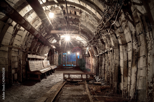 abandoned coal enterprise, underground mining
