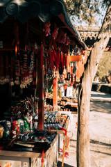 Fototapeta na wymiar shop of souvenirs in china