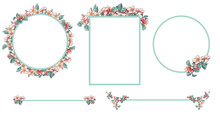 Apple Blossom Frames And Divid...