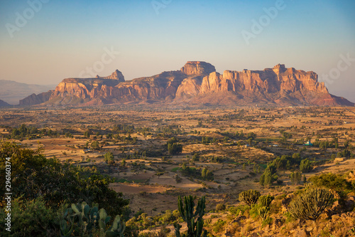 The landscape of Gheralta in Tigray, Northern Ethiopia