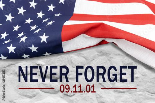 Tela  9/11 Patriot Day, September 11. Never Forget