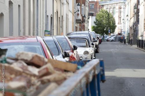 Keuken foto achterwand Havana cars on road in city