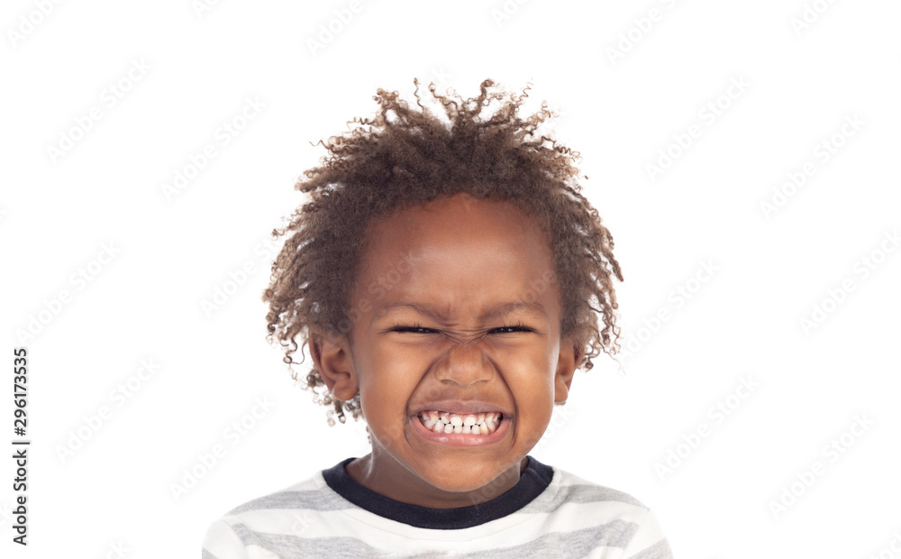 Fototapety, obrazy: Beautiful child with a funny expression