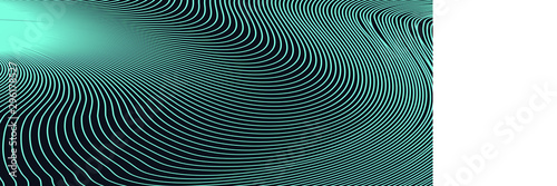 Cuadros en Lienzo Abstract Blue and Green Geometric Pattern with Waves