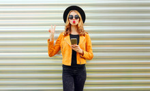 Stylish Young Woman With Phone...