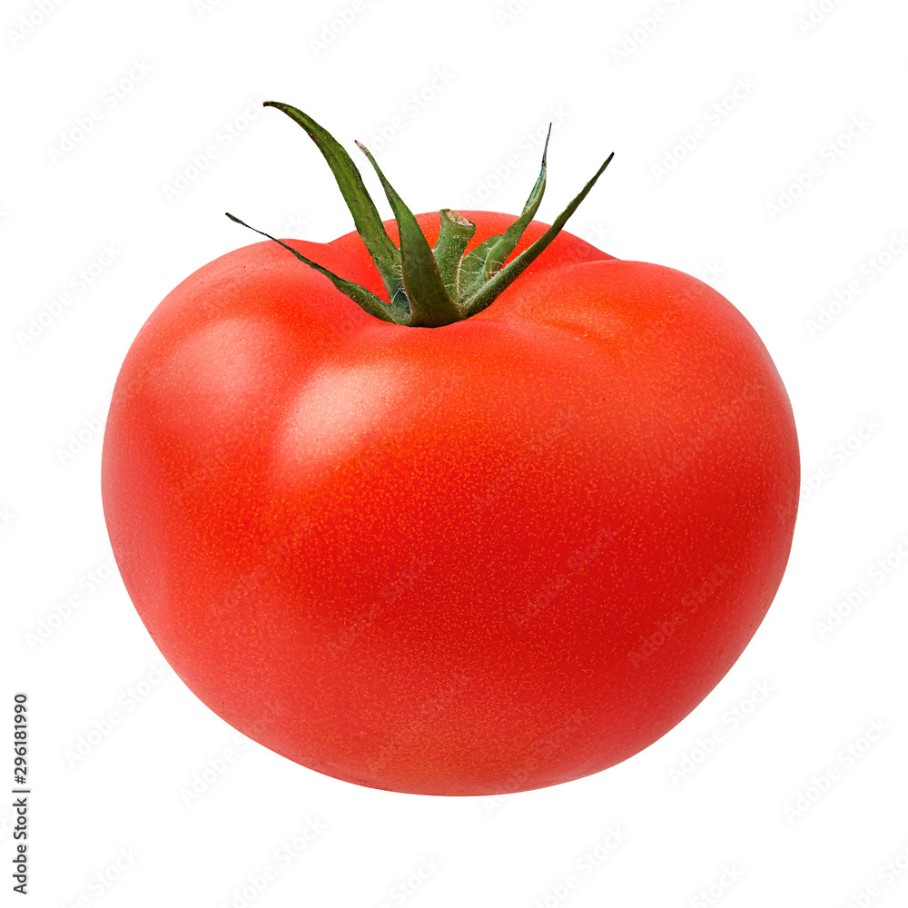 Fototapety, obrazy: Fresh tomato isolated on white background with clipping path