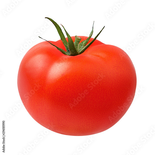 Fotografia, Obraz Fresh tomato isolated on white background with clipping path