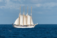 Sailing Ship With Four White S...