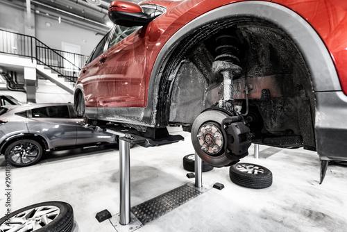 zawieszenie samochód- serwis samochodowy Canvas Print