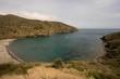 Crique et plage de sable gris en Espagne