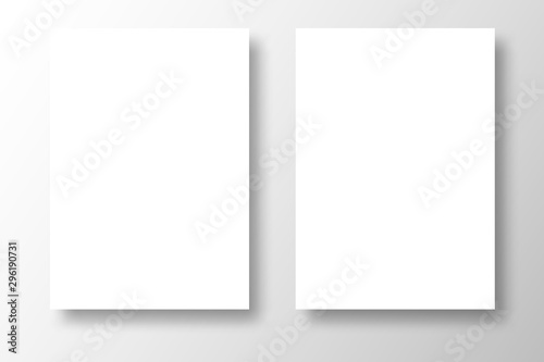 blank paper on white background