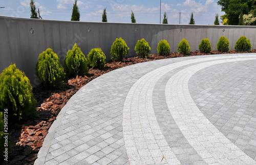 Design of landscaping in the garden, park, square, recreation area Canvas