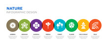 8 Colorful Nature Vector Icons...