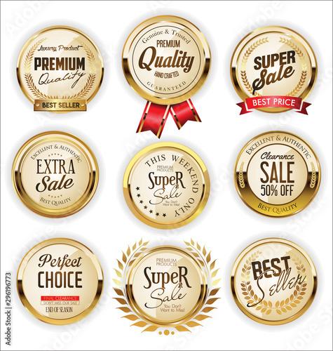Pinturas sobre lienzo  Golden sale labels retro vintage design collection