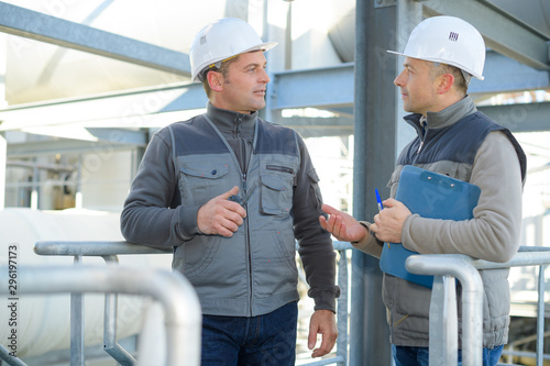 Obraz na plátně  engineers controlling a quality of water