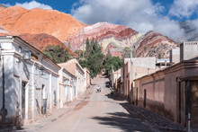 Purmamarca Town And Red Mounta...