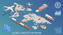 Isometric Global Logistics Net...