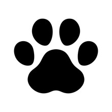 Dog Paw Footprint Icon Vector ...