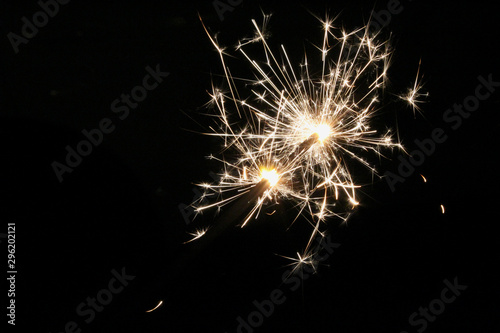 Fotografia  Sparklers on New Year`s Eve
