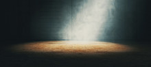 Empty Dark Room And Fog.3d Ill...