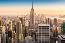 New York Skyline On A Sunny Af...