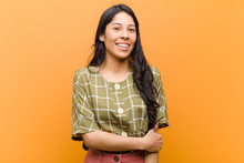 Young Pretty Hispanic Woman La...