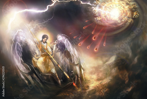 Saint Archangel Michael kills Lucifer Wallpaper Mural
