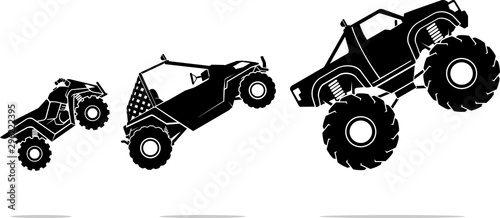 Photo Off Road Vehicles, Mid Air
