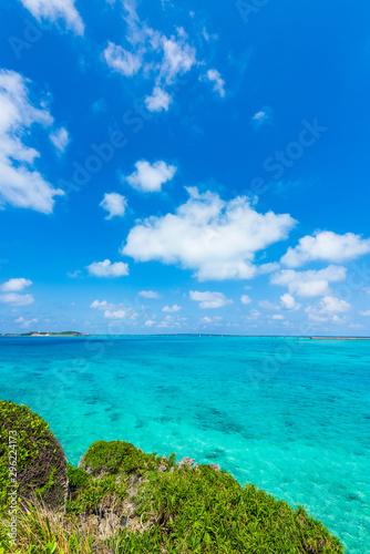 Fototapety, obrazy: 美しい宮古島の海 Beautiful beach in Miyakojima Island, Okinawa.