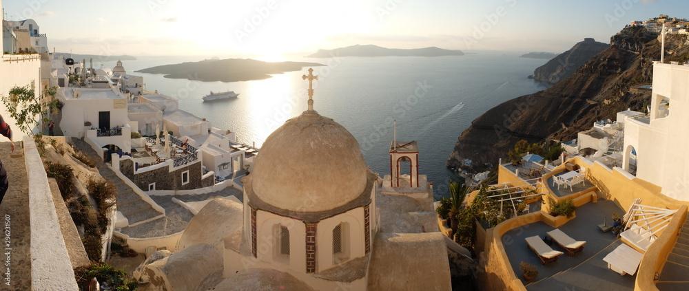 Fototapety, obrazy: church in santorini greece