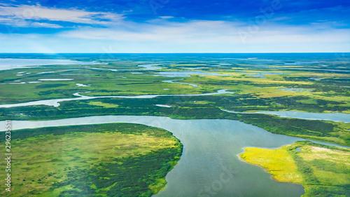 Valokuvatapetti Landscape of the arctic tundra in summer
