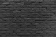 Black brick wall of dark stone texture