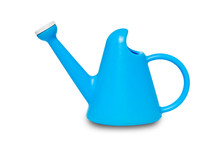 The Blue Plastic Watering Cans...