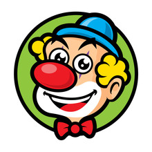 Cartoon Happy Clown Mascot Cha...
