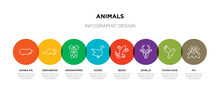 8 Colorful Animals Outline Ico...