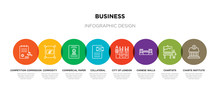 8 Colorful Business Outline Ic...
