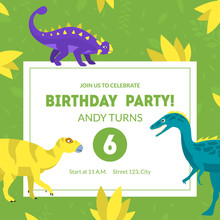 Birthday Party Invitation Card...