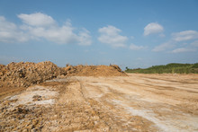 Outdoor Construction Dirt Road Mound And Sky Landscape