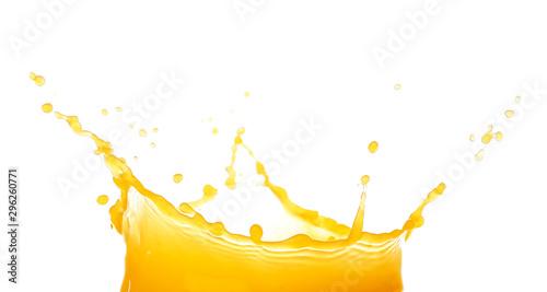 Fotografie, Obraz Splash of fresh orange juice on white background