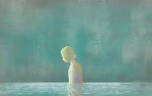 Sadness Woman In Water, Surrea...